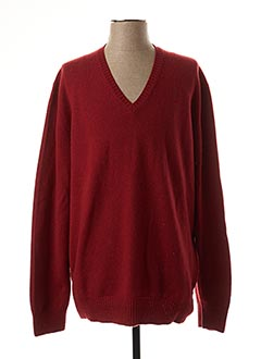 Pull col V rouge GRAN SASSO pour homme