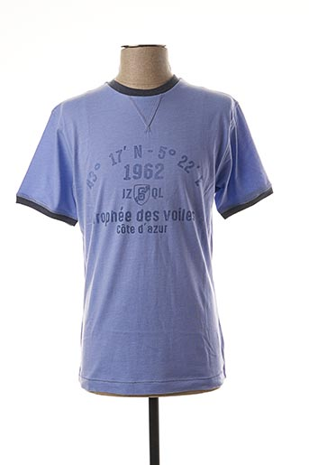 T-shirt manches courtes violet JEZEQUEL pour homme