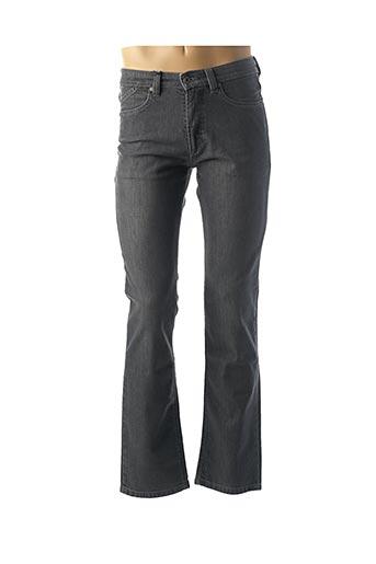 Jeans coupe droite gris BRUNO SAINT HILAIRE pour homme
