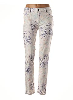 Pantalon casual blanc LAUREN VIDAL pour femme