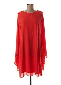 Robe mi-longue orange LAUREN VIDAL pour femme