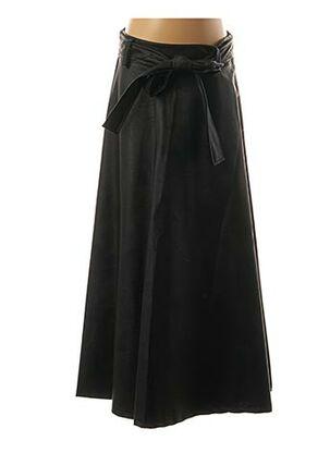 Jupe mi-longue noir BLU ROYAL pour femme