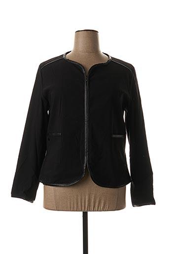 Veste casual noir FIL D'ECUME pour femme