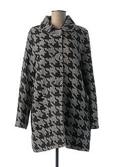 Manteau long noir CAROLINE BISS pour femme
