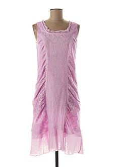 Robe mi-longue rose FRED SABATIER pour femme