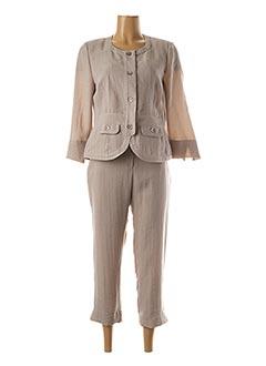 Veste/pantalon beige CHRISTINE LAURE pour femme
