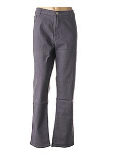 Jeans coupe droite gris FCL DIFFUSION pour femme