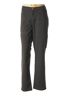 Pantalon casual gris CARMEN pour femme