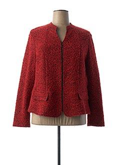 Veste casual rouge FRANK WALDER pour femme