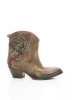 Bottines/Boots marron ELENA LACHI pour femme