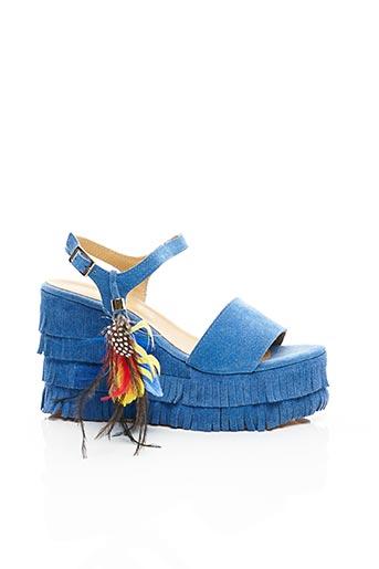 Sandales/Nu pieds bleu FIORINA pour femme
