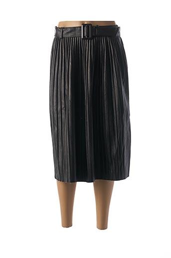 Jupe mi-longue noir CARLA GIANNINI pour femme