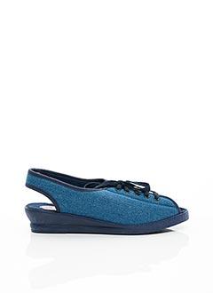 Chaussons/Pantoufles bleu WAPITI pour femme
