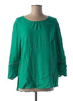 Blouse manches longues vert CECIL pour femme