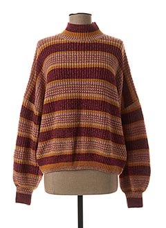 Pull col cheminée rouge TIFFOSI pour femme