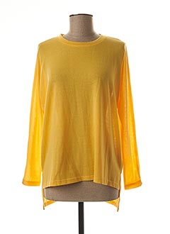 Pull col rond jaune TIFFOSI pour femme