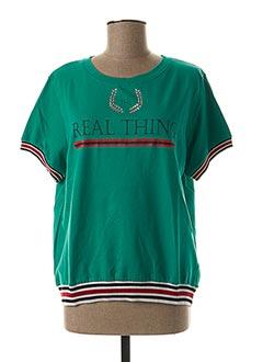 T-shirt manches courtes vert TIFFOSI pour femme