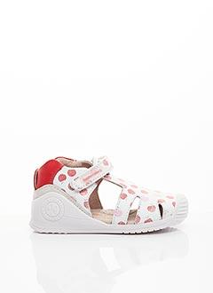 Sandales/Nu pieds blanc BIOMECANICS pour fille