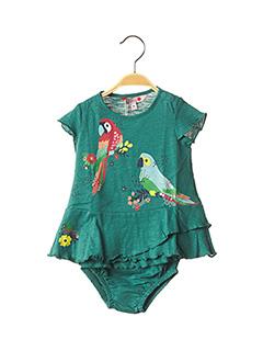 Robe mi-longue vert BOBOLI pour fille