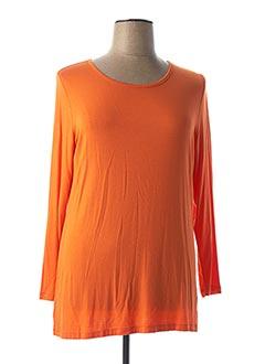 T-shirt manches longues orange ALAIN WEIZ pour femme