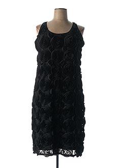 Robe mi-longue noir ALAIN WEIZ pour femme