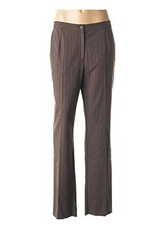 Pantalon chic marron GEVANA pour femme