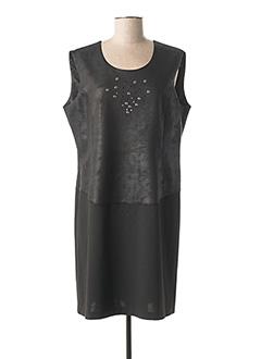 Robe mi-longue noir GEVANA pour femme