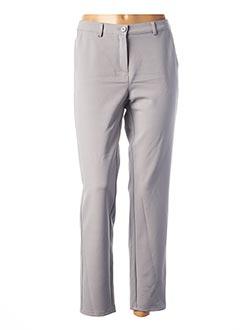Pantalon 7/8 gris FRANK WALDER pour femme
