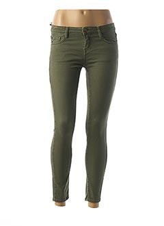 Jeans skinny vert ACQUAVERDE pour femme