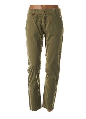 Pantalon casual vert F.A.M. pour femme