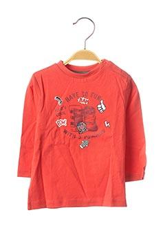 T-shirt manches longues rouge 3 POMMES pour garçon