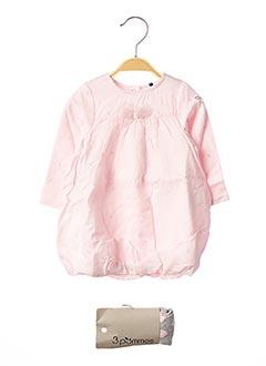 Robe mi-longue rose 3 POMMES pour fille