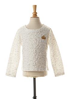 Sweat-shirt blanc 3 POMMES pour fille