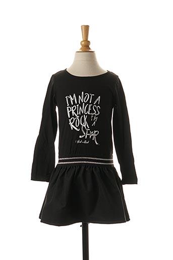 Robe mi-longue noir 3 POMMES pour fille