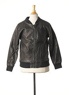 Veste simili cuir marron 3 POMMES pour garçon