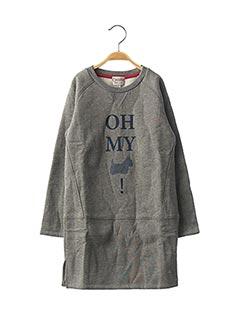 Robe mi-longue gris CHIPIE pour fille