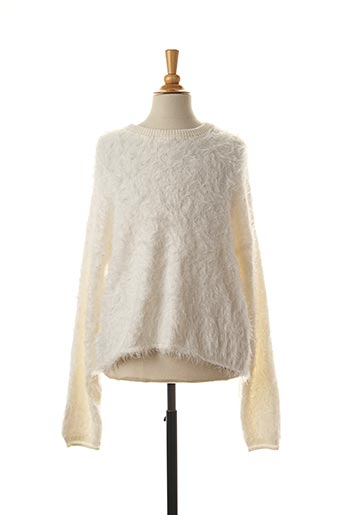 Pull col rond blanc CHIPIE pour fille