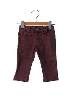 Jeans coupe slim rouge JEAN BOURGET pour garçon