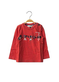 T-shirt manches longues rouge JEAN BOURGET pour garçon