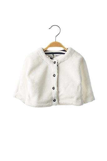 Veste casual blanc JEAN BOURGET pour fille