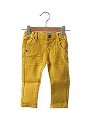 Jeans coupe slim jaune JEAN BOURGET pour enfant seconde vue