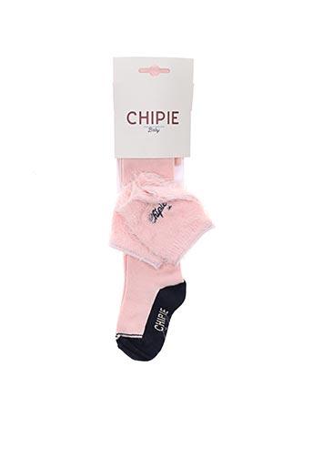 Collants rose CHIPIE pour fille