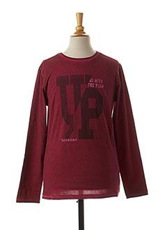 T-shirt manches longues rouge BECKARO pour garçon