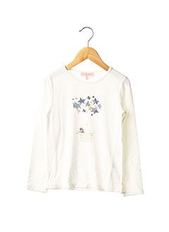 T-shirt manches longues blanc LILI GAUFRETTE pour fille