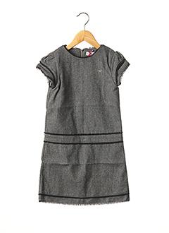 Robe mi-longue gris LILI GAUFRETTE pour fille