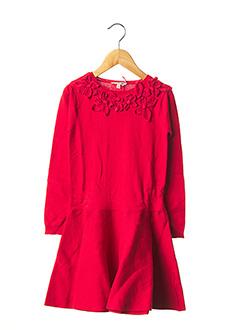 Robe mi-longue rouge LILI GAUFRETTE pour fille