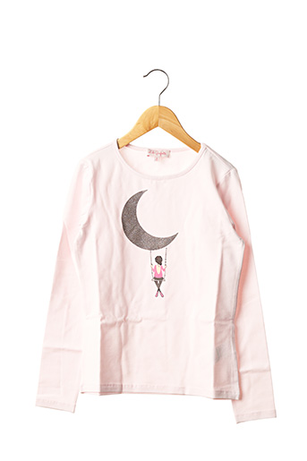 T-shirt manches longues rose LILI GAUFRETTE pour fille