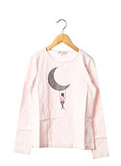 T-shirt manches longues rose LILI GAUFRETTE pour fille seconde vue