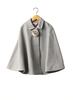 Poncho gris LILI GAUFRETTE pour fille