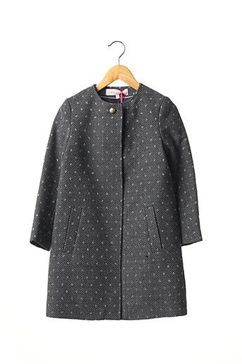 Manteau long bleu LILI GAUFRETTE pour fille